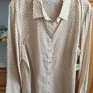 COLDWATER CREEK NEW NO IRON BUTTON DOWN BLOUSE
